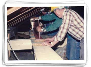 carey construction crew installing beam