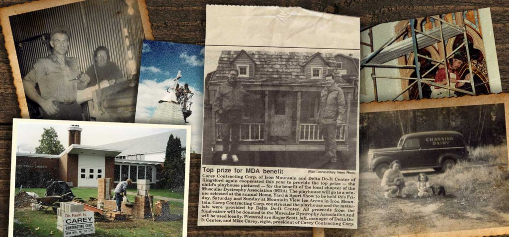 photo montage of carey family photos